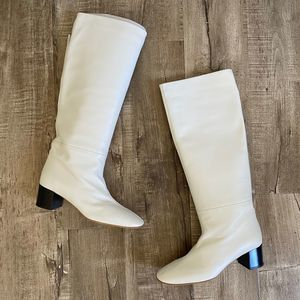 NWOB Everlane The Knee-High Heeled Boot Bone 9